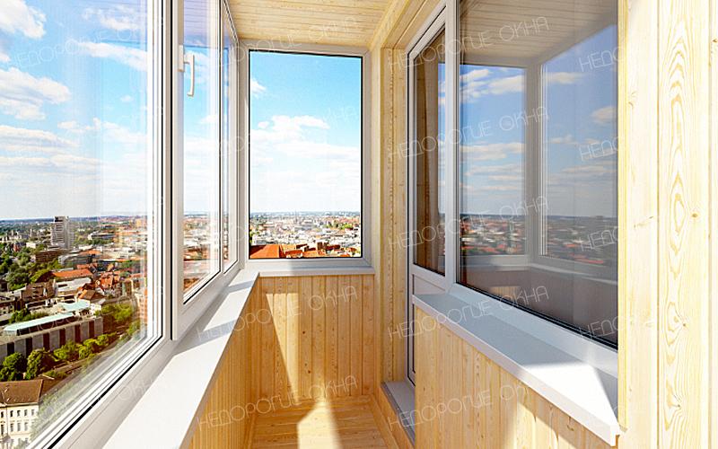 Отделка балкона и лоджий в архангельске.
